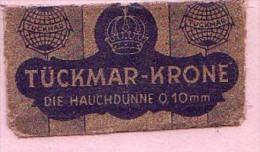 RAZOR BLADE SCHAEFFER  TÜCKMAR-KRONE DIE HAUCHDÜNNE 0.10 Mm - Rasierklingen