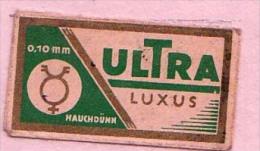 RAZOR BLADE RASIERKLINGE ULTRA LUXUS 0.10mmm HAUCHDÜNN - Rasierklingen