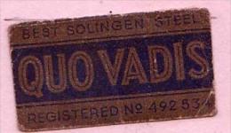 RAZOR BLADE RASIERKLINGE QUO VADIS SOLINGENSTEEL REGISTERED No.492534 - Rasierklingen
