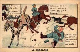 GODREINE - Humour Militaire -  Le Dressage    ..(56675) - Autres Illustrateurs