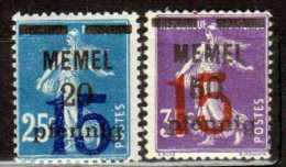 Memel 1920 Mi 47-48  * [030613L] @ - Memelgebiet