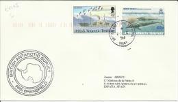 ANTARTIDA CC CON MAT BASE SIGNY Y MARCA DEL BUQUE RRS BRANSFIELD 1999 BAT - Territorio Antártico Británico  (BAT)