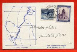 CHILI 25E ANNIVERSAIRE TRAVERSEE ATLANTIQUE SUD MERMOZ EN HYDRAVION DE 1961 POUR PARIS FRANCE - Chili
