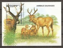 ANIMALES - CAMBOYA 1999 - Yvert #H161 - MNH ** - Animalez De Caza