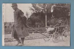 CPA Infirmier Attelage Blessé - Guerre 1914-18