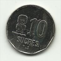 1991 - Ecuador 10 Sucres, - Ecuador