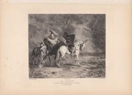 Le Simoun (orientalisme) - Eau-forte De Le Rat D´après Une Aquarelle De Eugène FROMENTIN 1879 - Estampes & Gravures