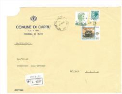 CAP 12061 - CARRU´ - CN - R - PIEMONTE - ANNO 1980 - F.TO 18 X 24  - STORIA DEI COMUNI D´ITALIA - Affrancature Meccaniche Rosse (EMA)