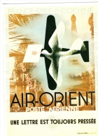 MENU   Air France /  Air-Orient   Poste Aérienne - Menu Cards