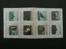 BG317- Set In Bloc (fold ) Used Rep. De Guinea Ecuatorial Horses - Horses