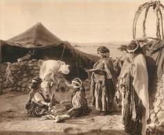 HELIOGRAVURE : TENTE DE NOMADES AMENAGEE... PHOTO BOUGAULT . - Afrika