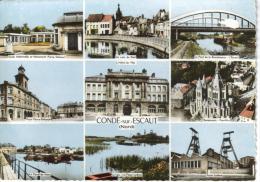 CPSM CONDE SUR ESCAUT (Nord) - 9 Vues - Conde Sur Escaut