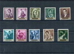 ESPAGNE 1965 Y&T 1312-1321** - 1931-Aujourd'hui: II. République - ....Juan Carlos I