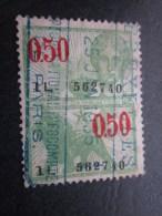 Timbre  Fiscal  Fiscale Fiscaux  Taxe Tax 0 Franc 50 Belgique Belgie 25 Janvier 1935 - Revenue Stamps