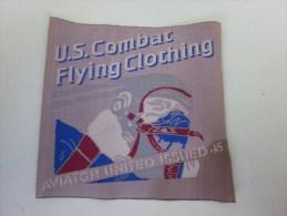 MILITARIA écusson En Tissu US Combat Flying Clothing  Vêtements De Combat Aérien Américain USA - Patches