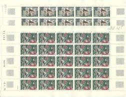 ANDORRA- HOJA ENTERA 25 SERIES TEMA DE EUROPA EUROPA 253/254 CORREO FRANCES 1976 - Hojas Bloque