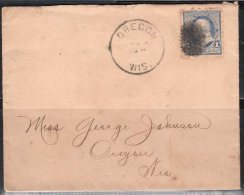 S500.-. USA, 1890-1893 , SCOTT # : 219. FRANKLIN. OREGON LOCAL COVER CIRCULATED - 1847-99 Unionsausgaben