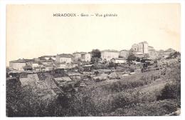 CPA Miradoux Gers 32 Vue Générale Non écrite Bon état - Autres Communes