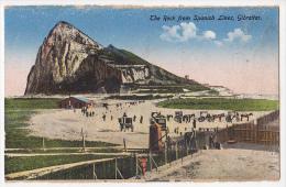 Gibraltar Tarjeta Postal The Rock From Spanish Lines  Vintage Original Postcard Cpa Ak (W3_1731) - Gibilterra