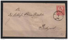 HUNGARY - ENVELOPE 5 Kr (1871) Mi #U2 -> BUDAPEST 1874 - Postal Stationery