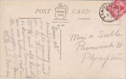 POSTAL HISTORY-1920 SINGLE RING CANCELLATION -EXMINSTER - Postmark Collection