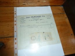Diamants Pour Vitriers Miroitiers Opticiens Jean OURSAIRE 5 Bis Rue Des Haudriettes Paris 3 - 1900 – 1949