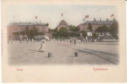 Copenhagen Denmark, Tivoli Gate And Square Outside, C1900s Vintage Postcard - Danimarca