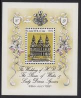 Barbuda MNH Scott #496 Souvenir Sheet $5 St. Paul´s Cathedral - Royal Wedding Charles And Diana - Antigua Et Barbuda (1981-...)