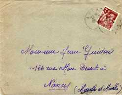 Philatélie - Enveloppe Timbrée, Circulé - 1945? - 2f Maron - Vieux Papiers