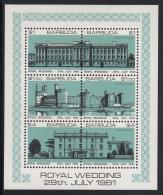 Barbuda MNH Scott #495 Sheet Of 6 Buckingham Palace, Caernarvon, Highgrove House Green - Royal Wedding Charles And Diana - Antigua Et Barbuda (1981-...)