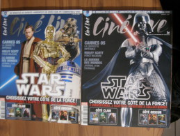 STAR WARS - MAGAZINE CINE LIVE - MAI 2005 - N° 90 - STAR WARS - LOT 2 MAGAZINES COUVERTURES DIFFERENTES - ETAT NEUF - Magazines