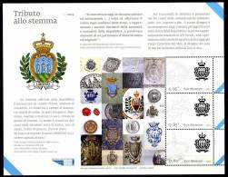 2012 - SAINT-MARIN - SAN MARINO - Tributo Allo Stemma - MNH - (**) -  New Mint - Blocchi & Foglietti