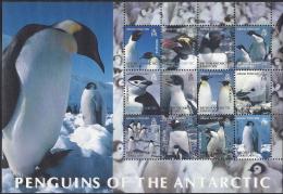 Br Antartic Terr,  Scott 2013 # C1,  Issued 2003,  S/S Of 12,  NH,  Cat $ 29.00, Penguins - British Antarctic Territory  (BAT)