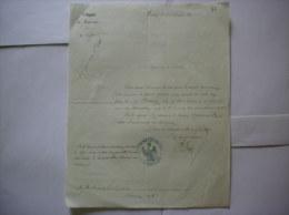 3e REGIMENT DE LANCIERS COURRIER CHAMBERY LE 6 DECEMBRE 1861 - Documents
