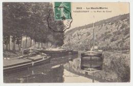 VOUECOURT : LE PORT DU CANAL - EDITION POURTOY - ECRITE EN 1908 -2 SCANS - - Sonstige Gemeinden