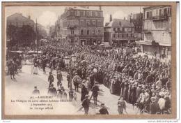 BELFORT - AVIATION - 517 - LES OBSEQUES DE NOTRE CELEBRE AVIATEUR PEGOUD - Le Cortège Officiel - 1915 - édit. Chadourne - Belfort - Ville