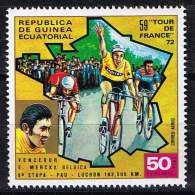 Guinea Equatorial , Michel #   ** 59. Tour De France /Eddie Merckx - Ciclismo