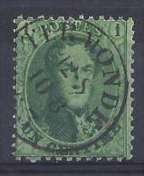 N°13A GESTEMPELD TERMONDE ZM/TB/VF USED COB € 40,00 SUPERBE - 1863-1864 Medaillons (13/16)