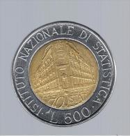 ITALIA - ITALY = 500 Liras ND (1996)   KM181 - Conmemorativas