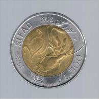 ITALIA - ITALY = 500 Liras 1998 - Conmemorativas