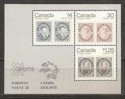 CANADA 1978 - Yvert #H1 - MNH ** - Hojas Bloque