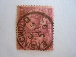 Groot Brittanië Grande-Bretagne Great Britain 1887-1900 Victoria Perf. 14 Waterm Crown Easingwold Yv 100 O - Gebruikt