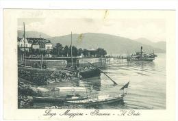 CARTOLINA - BAVENO - IL PORTO  - LAGO MAGGIORE - VIAGGIATA NEL 1912 - SECONDA SCELTA - Verbania