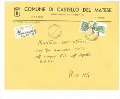 CAP 81010 - CASTELLO DEL MATESE - CE - R - ANNO 1980 - F.TO 18 X 24  - STORIA DEI COMUNI D´ITALIA - Affrancature Meccaniche Rosse (EMA)
