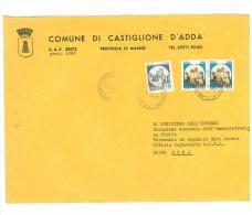 CAP 20072 - CASTIGLIONE D´ADDA - MI - LS - LOMBARDIA - ANNO 1981 - F.TO 18 X 24  - STORIA DEI COMUNI D´ITALIA - Affrancature Meccaniche Rosse (EMA)