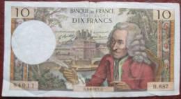 Dix 10 Francs 3.6.1971 (WPM 147d) - 10 F 1963-1973 ''Voltaire''