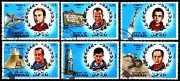Vignetten - Cinderella: 'Astronauten, 1972' / 'Space - Astronauts', Weebau: 222-227 Oo