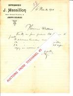 Lettre De 1901 - JEMEPPE-SUR-MEUSE - J. MASSILLON - Imprimerie - Belgique