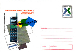 CONNEX MOBILE PHONE ADVERTISING, COVER STATIONERY, ENTIERE POSTAUX, 1997, ROMANIA - Postal Stationery