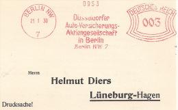 Germany - 1930 - EMA, Düsseldorfer Auto-Versicherungs-Aktiengesellschaft Berlin, 21-01-30 - Berufe